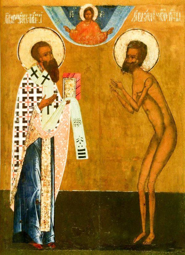 икона Василий Великий и Василий блаженный