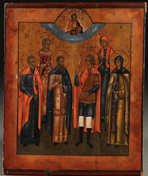 Георгий со святыми икона