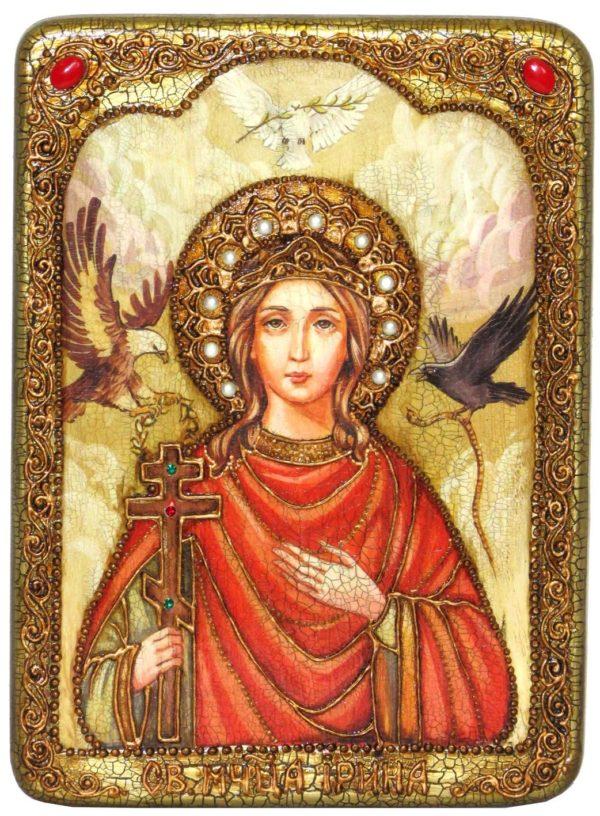 Ирина македонская с орлом и голубем