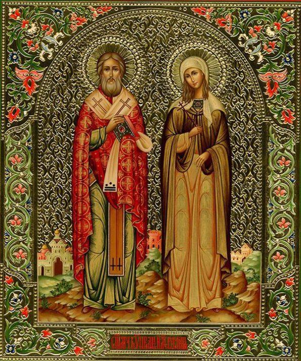 Киприан и Иустина икона 2