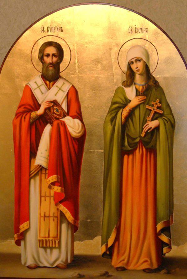 Киприан и Иустина икона