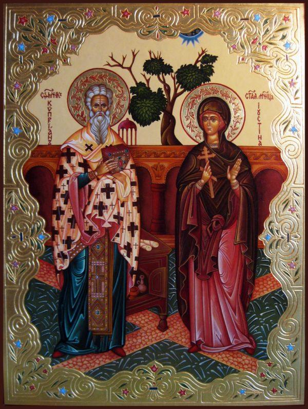 Киприан Иустина икона