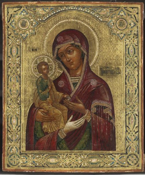 Богоматерь Троеручица из музея русских икон