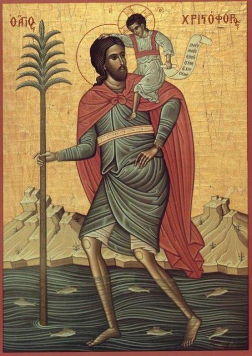 Христофер переносит младенца Христа